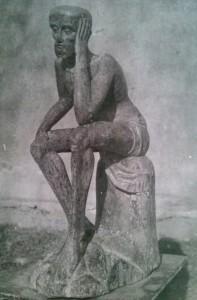 zdj. rzeźby po przywiezieniu; kronika parafialna w Orawce